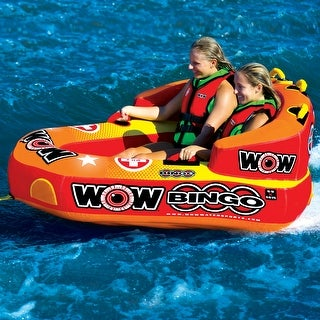 WOW Sports Bingo 2 Person Towable Water Tube For Pool and Lake (14-1060)
