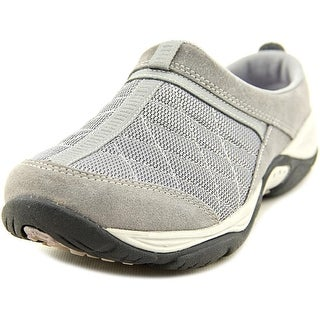 Easy Spirit Active EZ Time Women W Round Toe Suede Gray Mules