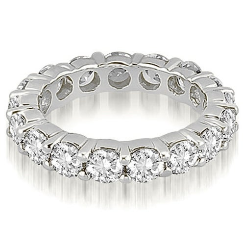 4.80 cttw. 14K White Gold Round Shared Prong Diamond Eternity Ring