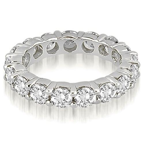 4.80 cttw. 14K White Gold Round Shared Prong Diamond Eternity Ring