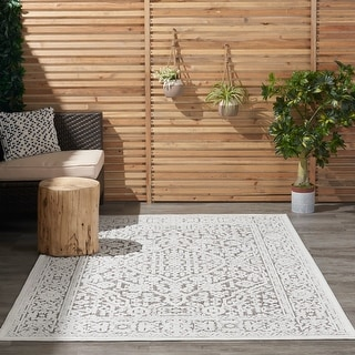 Link to Nourison Calobra Floral Indoor Outdoor Area Rug Similar Items in Patterned Rugs