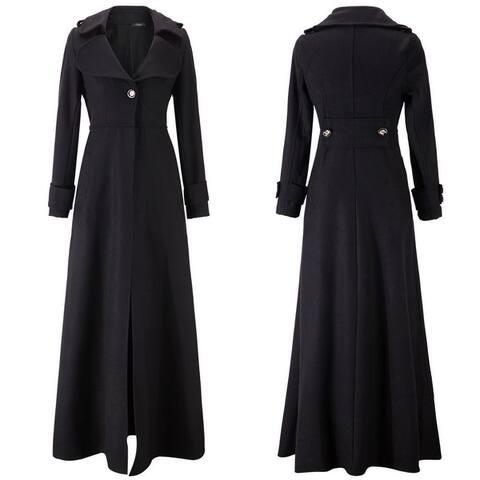 Women's Long Slim Mop Trench Coat