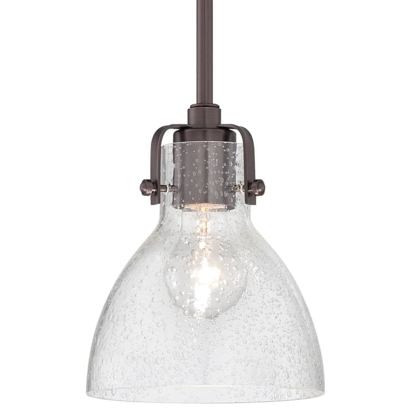 "Minka Lavery 2244-267C 1 Light 8"" Height Indoor Mini Pendant in Dark Brushed Bronze"