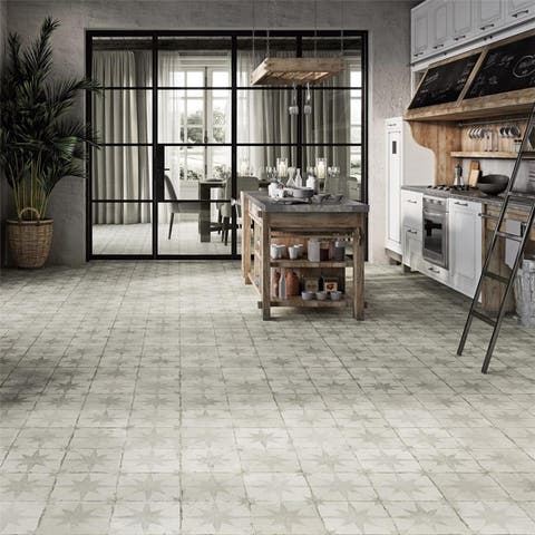 SomerTile Royals Estrella White 17-5/8 in. x17-5/8 in. x 11mm Ceramic Floor and Wall Tile