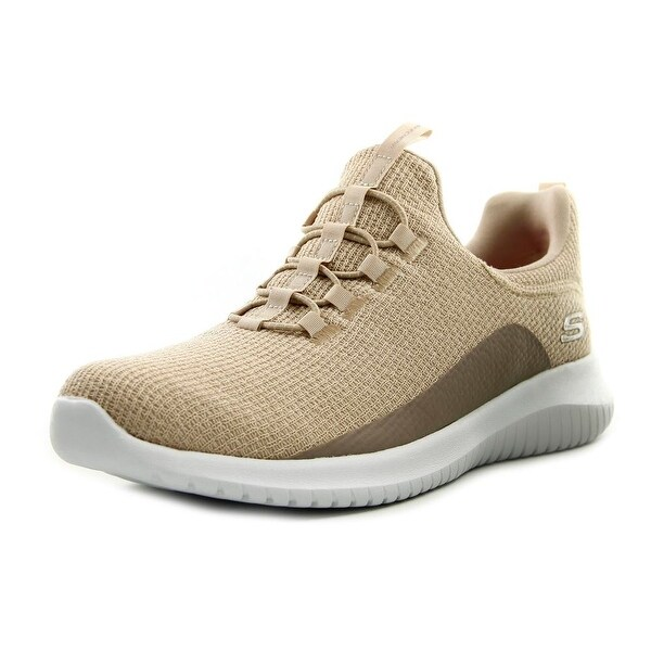 Skechers Ultra Flex Women Round Toe Canvas Tan Sneakers
