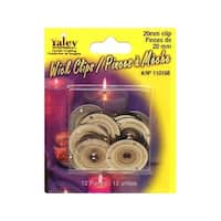 Yaley Wick Clip Round 20mm 12pc
