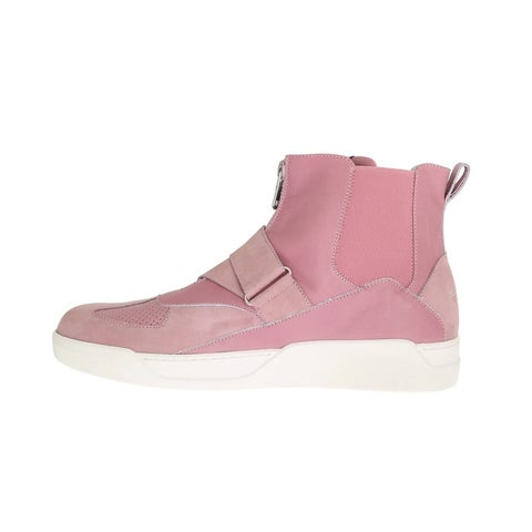 Dolce & Gabbana Dolce & Gabbana Pink Leather High Top Sneakers - eu44-us11