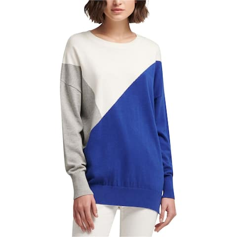 Dkny Womens Colorblocked Knit Sweater