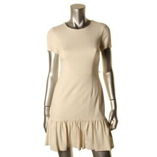 Shoshanna Womens Ponte Short Sleeves Wear to Work Dress - 12