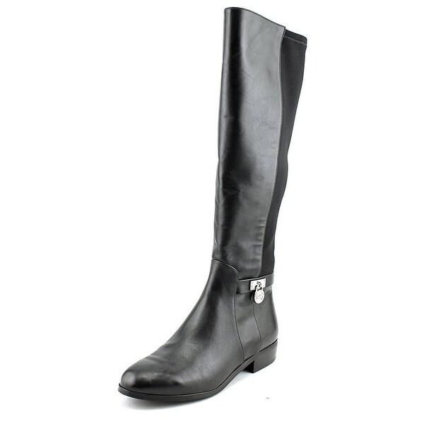 Michael Michael Kors Hamilton Tall Boot Women Leather Black Knee High Boot
