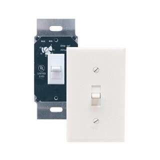 Air King AKDT60 Exhaust Fan Control Switch with Simultaneous Delay Timer - White
