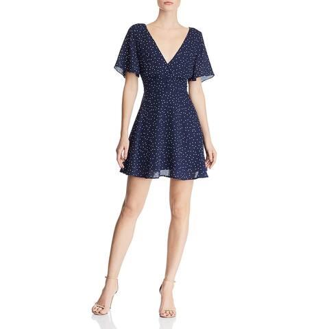 BB Dakota Womens Casual Dress Polka Dot Mini - Oil Slick