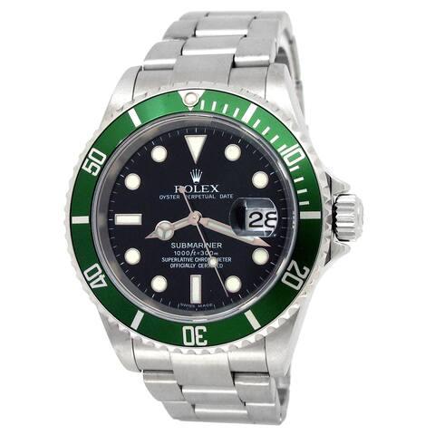 "Pre-owned 40mm Rolex Submariner ""Kermit"" Watch"