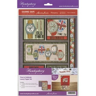Hunkydory Charming Chaps A4 Topper Set-Time To Celebrate