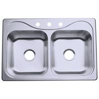 """Sterling 11400-3 Southhaven 33"""" Double Basin Drop In Stainless Steel Kitchen Sink with SilentShield® - STAINLESS STEEL"""