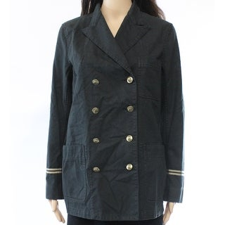 Lauren Ralph Lauren NEW Black Women's Size 12 Twill Military Jacket