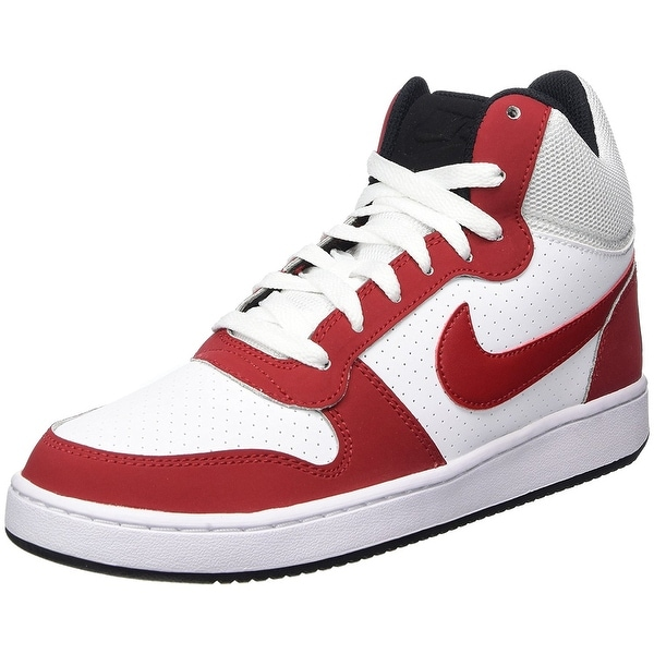 huge selection of 54492 48785 NIKE Men  x27 s Court Borough Mid, White Gym Red-Black