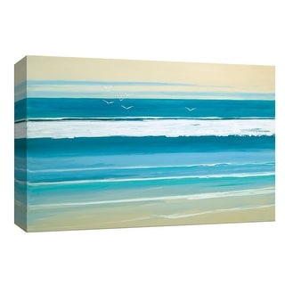 """PTM Images 9-148050  PTM Canvas Collection 8"""" x 10"""" - """"Sunny Seaside III"""" Giclee Beaches and Waves Art Print on Canvas"""