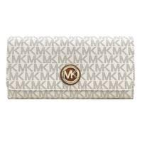 Michael Kors Signature Fulton Flap Continental Carryall Wallet