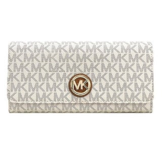 Michael Kors Signature Fulton Flap Continental Carryall Wallet