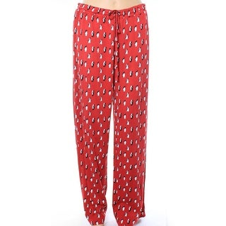 Lord & Taylor NEW Red Womens Size Large L Penguin Print Lounge Pants