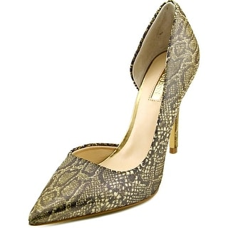 Guess Bittan 2 Women Pointed Toe Canvas Gold Heels