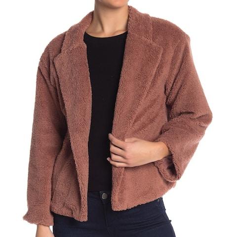 14th & Union Womens Large Faux-Fur Flyaway Jacket