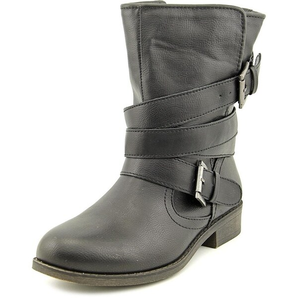 Madden Girl Billie Round Toe Synthetic Mid Calf Boot