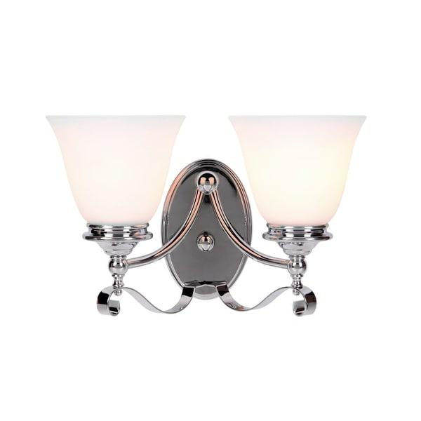 "Jeremiah Lighting 39802 Chelsea 2-Light Bathroom Vanity Light - 14"" Wide"