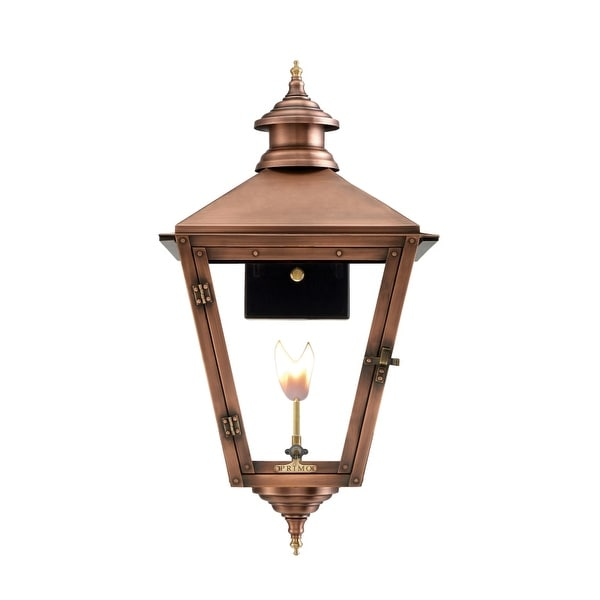 """Primo Lanterns SV-27G Savannah 28"""" Wide Outdoor Wall-Mounted Lantern Natural Gas Configuration - Copper - n/a"""