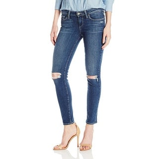 Paige Verdugo Ankle Destructed Mid Rise Ultra Skinny Jeans Pants - 32