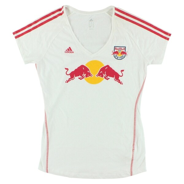Adidas Womens New York Red Bulls MLS Club T Shirt White - White/Red/Yellow  - L