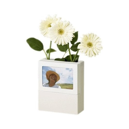 Umbra Fotoflora White Picture Frame and Vase In One