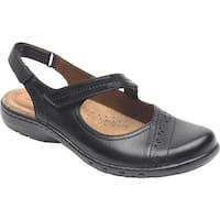 Rockport Women's Cobb Hill Penfield Closed Toe Sandal Black Leather