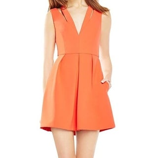 BCBG Max Azria NEW Orange Womens Size 4 Crepe Cutout A-Line Dress