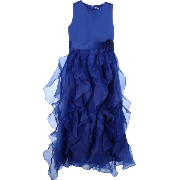 Shop Cherry Rain Girls Formal Dress Ruffled Sleeveless 14 Ships