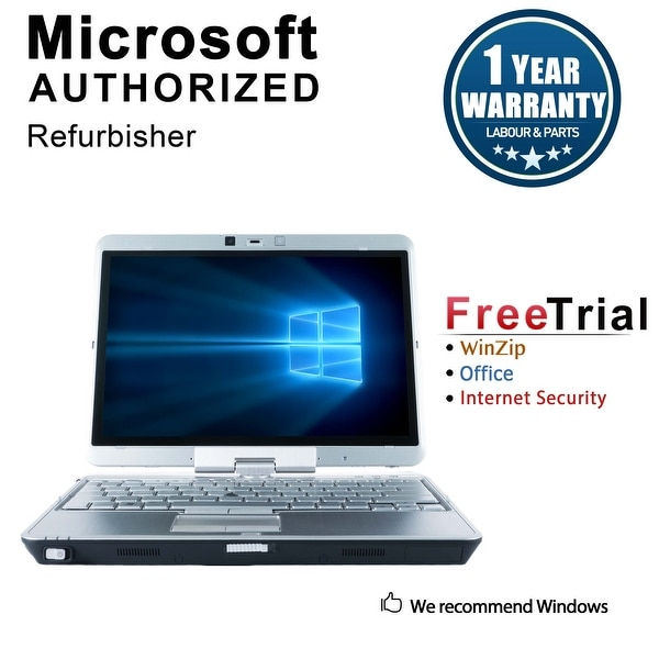 Refurbished HP EliteBook 2740P 12.1'' Laptop Intel Core i5-520M 2.4G 4G DDR3 160G Win 10 Pro 1 Year Warranty - Silver