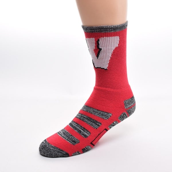 For Bare Feet Wisconsin Badgers Patches Socks