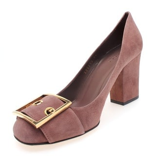 "Gucci Women's ""Keisha"" Suede Pump with Buckle Brown - 10 us (40 eur)"