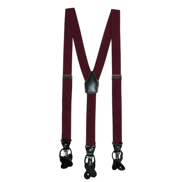 Umo Lorenzo Men's Gift Boxed Dress Casual Convertible Suspenders