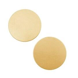 Solid Brass Round Stamping Blanks - 25mm Diameter 24 Gauge (2)