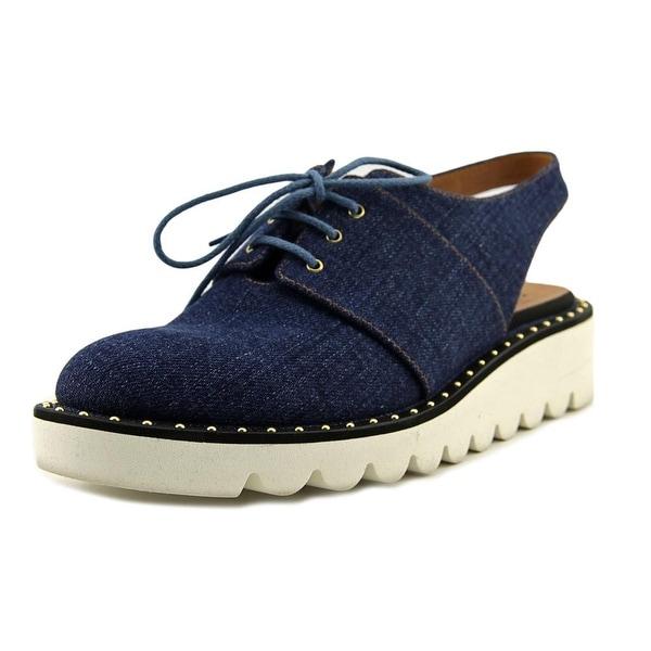 Stella McCartney Scarpa Hackney Women Round Toe Canvas Blue Fashion Sneakers