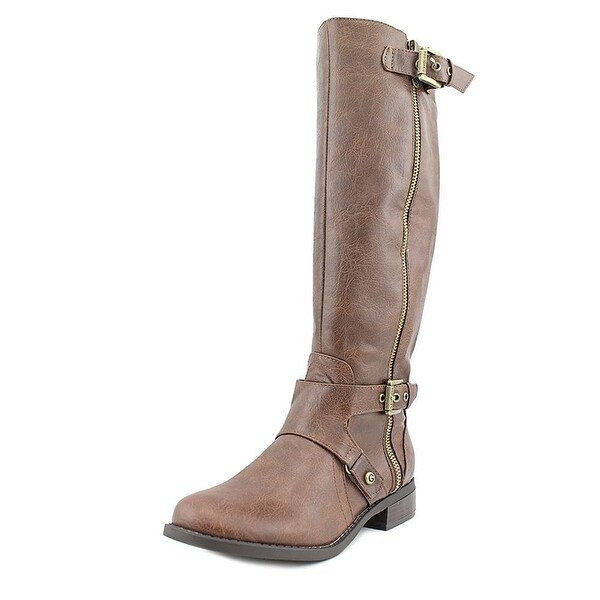 G by Guess Womens Hertle 2 Wide Calf Round Toe Knee High Riding Boots