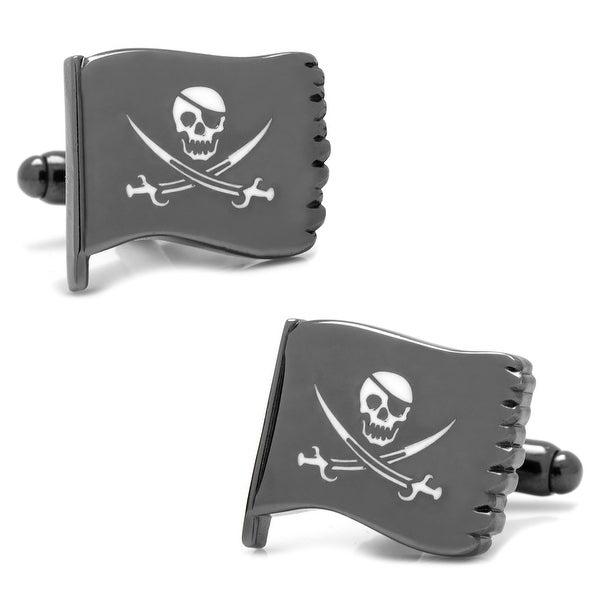 Jolly Roger Waving Flag Cufflinks