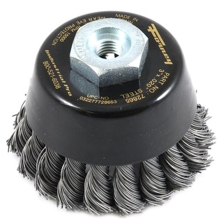 """Forney 72865 Industrial Pro Twist Knot Wire Cup Brush, 3"""" x 1.5/1.25"""""""