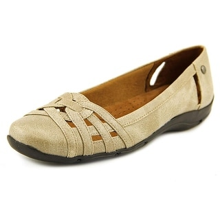 Life Stride Diverse Women N/S Round Toe Synthetic Nude Flats