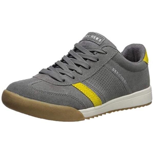 Skechers Women's Zinger Suede Retro Trainer Sneaker, Grey