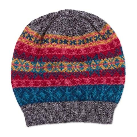 NOVICA Multicolored IncaWool hat
