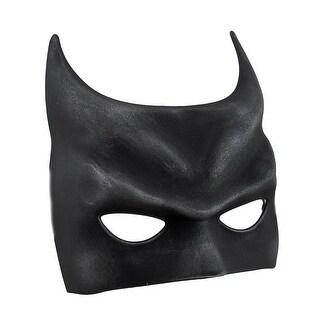 Bat Fantasy Molded Black Half Mask w/Silken Ribbon Ties