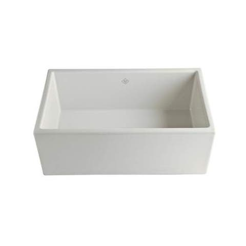 "Rohl MS3018 Shaws 30"" Farmhouse Single Basin Fireclay Kitchen Sink"